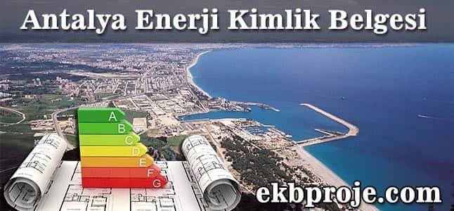 Antalya Enerji Kimlik Belgesi