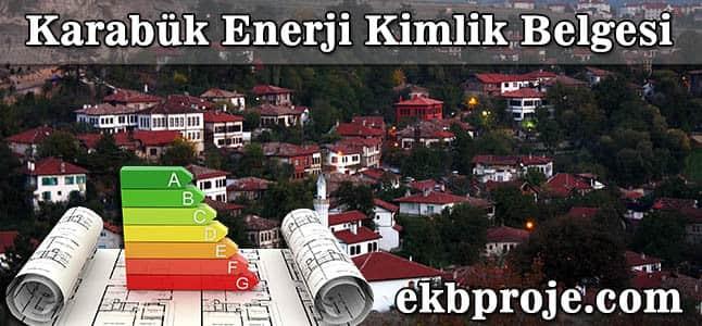Karabük Enerji Kimlik Belgesi