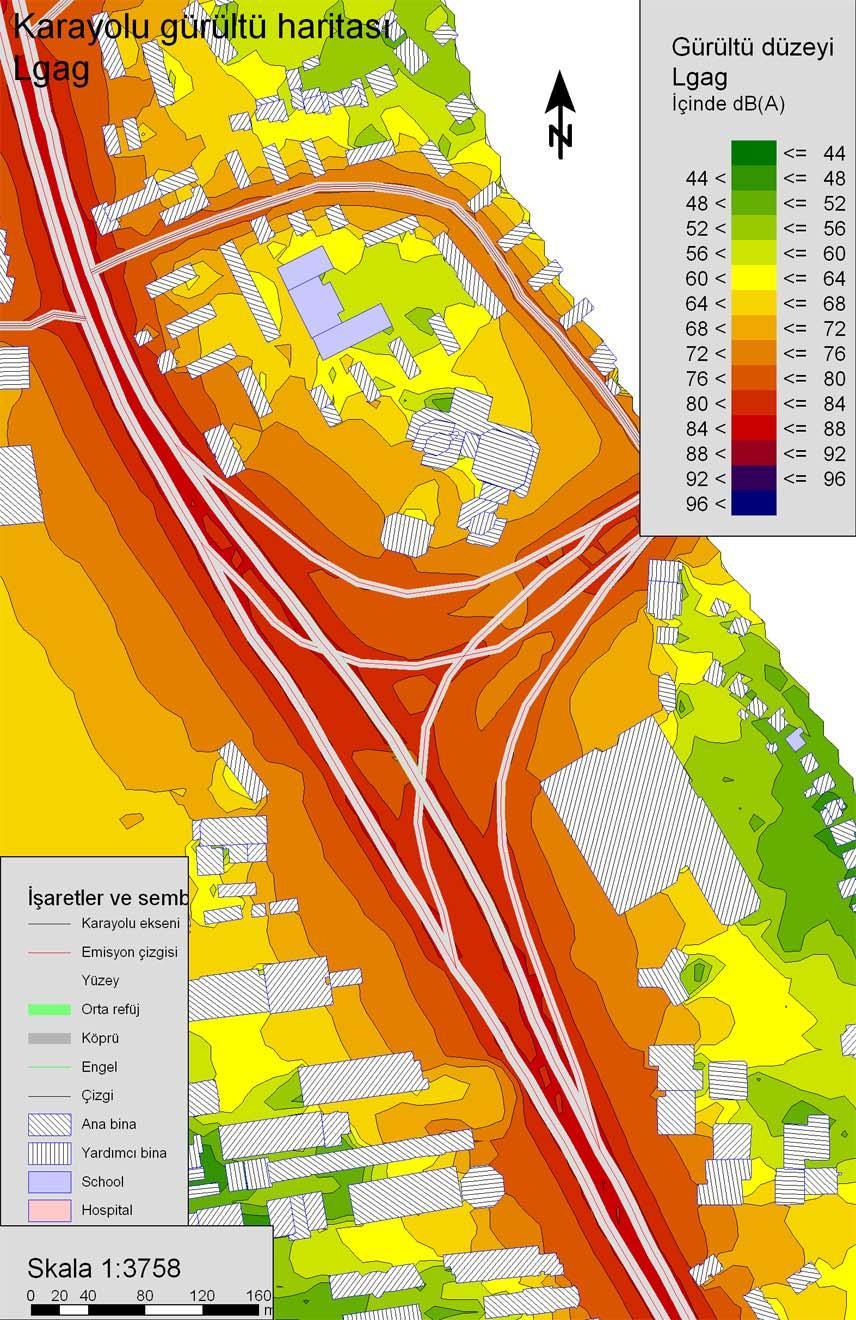 gürültü haritası ve ölçüm raporu
