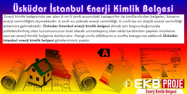Üsküdar İstanbul Enerji Kimlik Belgesi