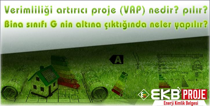 Verimliliği artırıcı proje (VAP) nedir? Bina sınıfı G nin altına çıktığında neler yapılır?